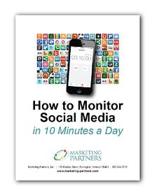 How to Monitor Social Media in 10 Minutes a Day - ebook cover image